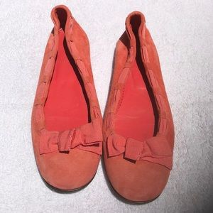 J. Crew Coral Suede Flats